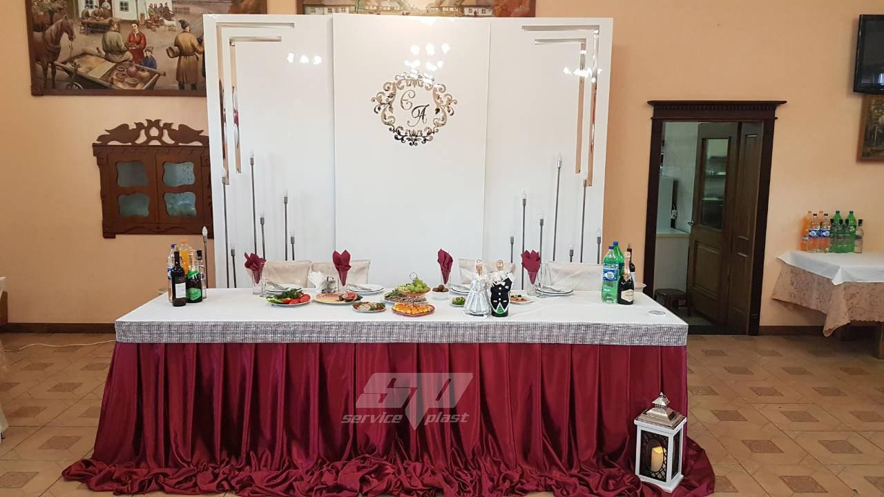 Ширма глянцевая, фотозона на свадьбу, глянцевые панели