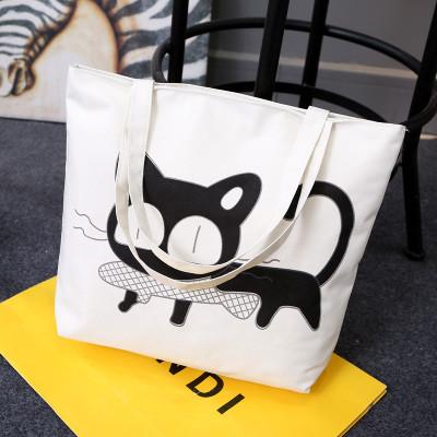 Эко-сумка из хлопка с котом