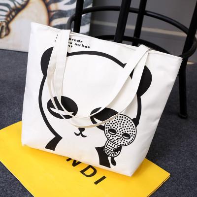 Эко-сумка из хлопка с мишкой
