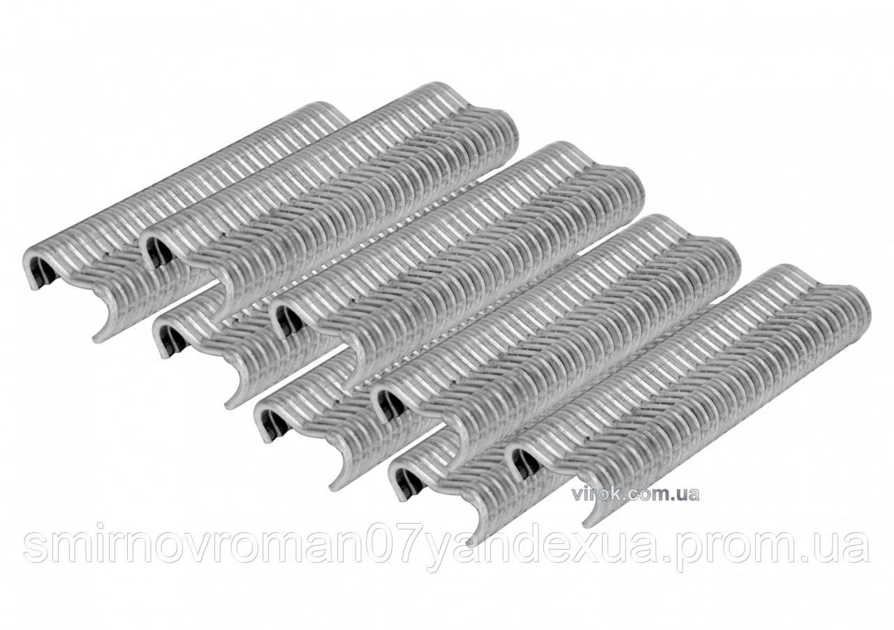 """Скоби стягувальні обгороджувальну сітку VOREL тип """"Е"""" FI 2 мм до щипців 49840 600 шт"""