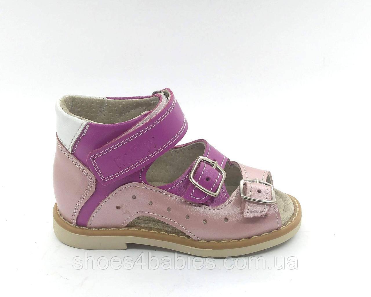 Ортопедичні босоніжки для дівчаток Ecoby (Экоби) р. 20 - 32 модель 020F