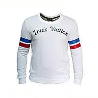 Свитшот мужской Louis Vuitton белый ( реплика ) Брендовая мужская одежда  Турция 3a0db960e09