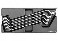 Вклад до інструментальної шафи YATO: ключі накидні вигнуті 21х23, 24х27, 25х28, 30х32 мм, 4 шт.