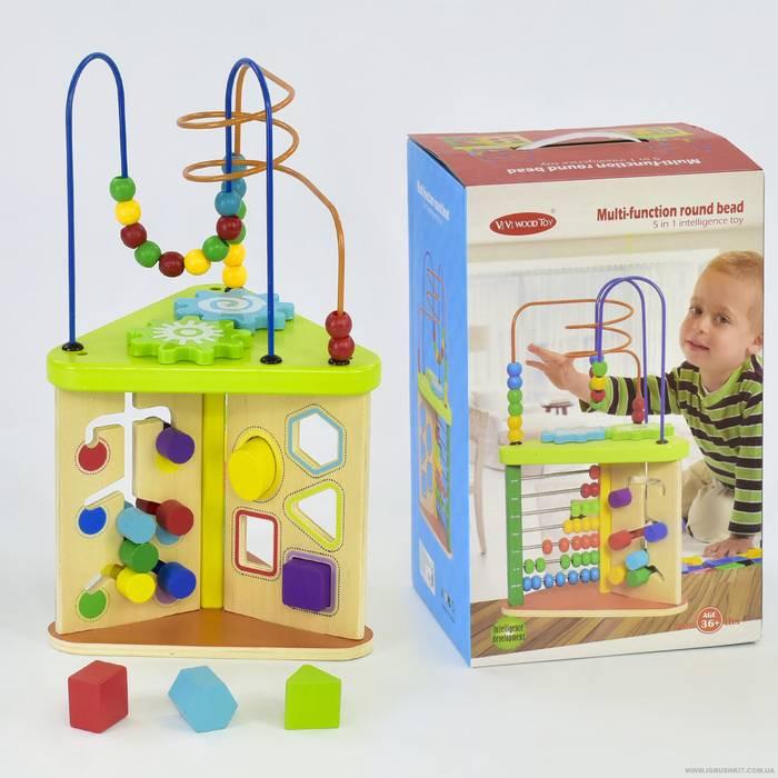 Куб логический деревянный С 03168