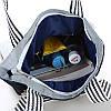 Эко-сумка синяя с изображением совы, фото 2