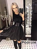 Вечернее платье с пышной юбкой, черное