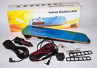 Зеркало видеорегистратор с камерой заднего вида Vehicle Blackbox DVR 460 Gold 4.3 дюйма