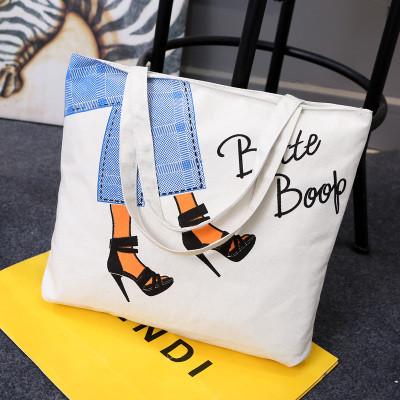 Эко-сумка из ткани с туфельками