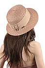Шляпа женская соломенная коричневая, фото 2