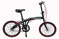 """Складной велосипед черно-красный Mascotte Folding M1 20"""", фото 1"""