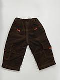 Штани вельветові на флісі для хлопчика р. 80, фото 2