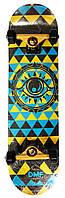 Скейтборд деревянный канадский клен для трюков Fish Skateboards - EYE глаз 79см (sk87)