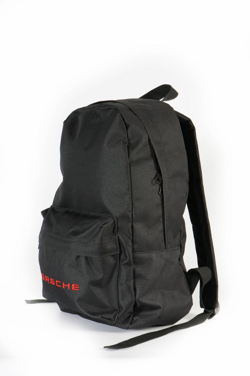 Молодежный черный рюкзак Porsche 14 л, фото 2
