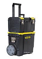 "Шухляди на колесах Ø= 178 мм 2-секційні STANLEY ""Mobile WorkCenter""; 47,5 х 28,4 х 63,0 см"