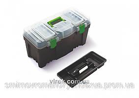 """Скринька для інструментів з з органайзером в кришці """"Green box 25"""" пластиковий ТМ ВІРОК"""
