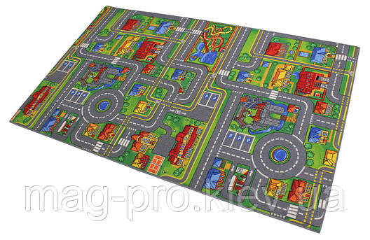 Детский ковролин с дорогами AW PLAYCITY , фото 2