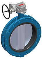 Поворотный дисковый затвор Баттерфляй с П-образным профилем T.I.S. SERVICE D158 DN300 PN10 (ДУ300 РУ10) ТИС