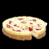 Малиновый сырный торт