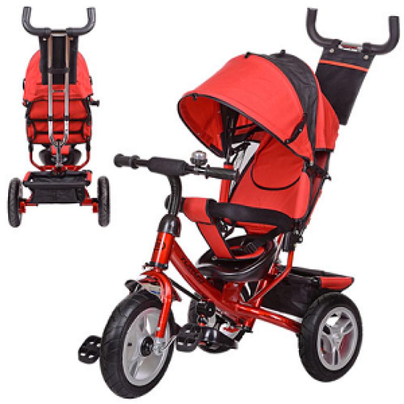 🔥✅ Велосипед трехколесный Turbo Trike M 3113-3A с родительской ручкой для прогулок