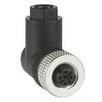 Конектором M12, 4-PIN для індуктивних датчиків XS, кутове з'єднання XZCC12FCM40B