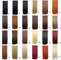 Накладные волосы прядь на 5 клипс(трессы).Цвета в ассортименте., фото 1