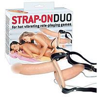 Двойной женский вибро-страпон Vibrating Strap-On Duo
