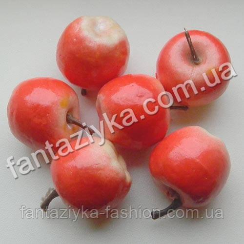 Яблоко искусственное для декора 35мм розовое