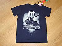 Футболка для мальчика World of tanks танки реплика Рисунок светится в темноте 152  см