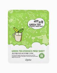 Маска тканевая c зеленым чаем Esfolio Pure Skin Green Tea Essence Mask Sheet