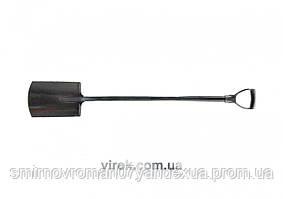 Лопата штикова VOREL прямокутна з метал. держаком, l= 120 см [5]