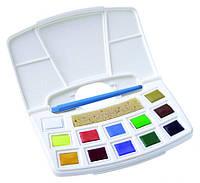 Набор акварельных красок TALENS ART CREATION, Pocket box, 12 кювет, кисть, спонж, Royal Talens