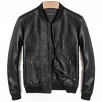 Короткая куртка из натуральной кожи. (01328)