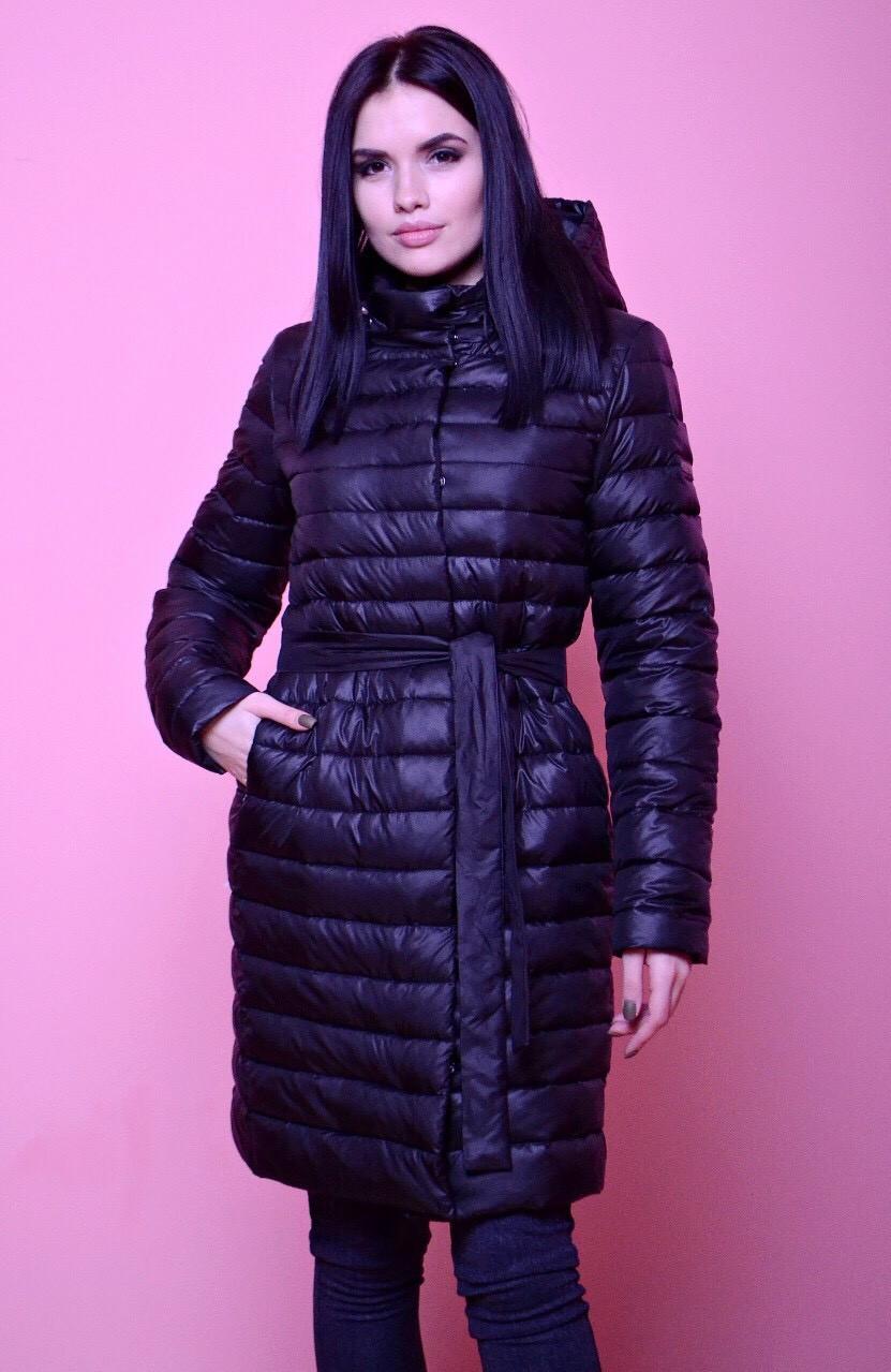 Весенняя длинная женская курточка