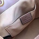 Рюкзак Гучи Marmont стёганный, цвет нюдовый, натуральная кожа, фото 3