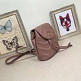Рюкзак Гучи Marmont стёганный, цвет нюдовый, натуральная кожа, фото 4
