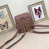Рюкзак Гучи Marmont стёганный, цвет нюдовый, натуральная кожа, фото 7
