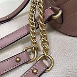 Рюкзак Гучи Marmont стёганный, цвет нюдовый, натуральная кожа, фото 8