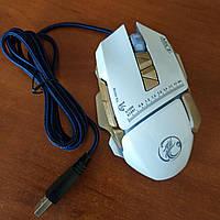 Игровая мышка IMICE V9 3200 dpi LED подсветка Gaming USB 2.0 геймерская и компьютерная белая