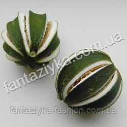 Апельсин натуральный сушеный с разрезами зеленый