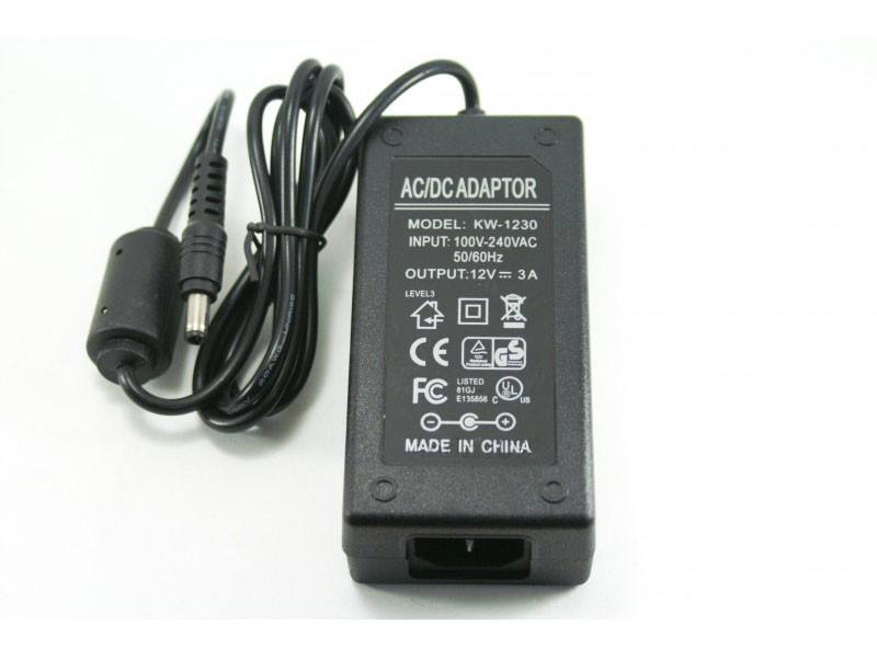 Блок питания UKC KW-1230 12V 3A + кабель питания