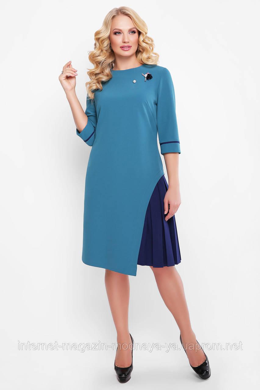 Нарядное платье Ванда р. 46-58 бирюза