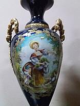Порцелянові вази 19 століття Севр Франція, фото 2
