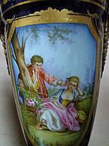 Вазы фарфоровые 19 век Севр Франция, фото 3