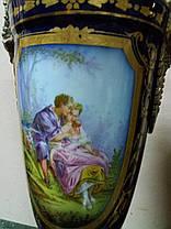 Вазы фарфоровые 19 век Севр Франция, фото 2