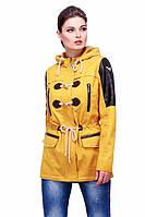 Стильная молодежная курточка с тонким пояском