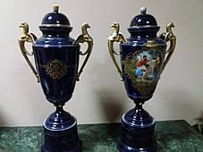 Порцелянові вази 19 століття Австрія Королівська мануфактура, фото 2
