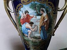 Порцелянові вази 19 століття Австрія Королівська мануфактура, фото 3