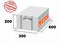 Газоблок Аэрок Березань д300 300х200х600 гладкий / паз-гребень ЭкоТерм Супер Плюс