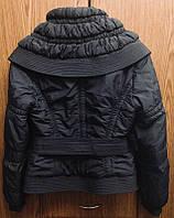 Куртка женская демисезонная. черная, приталенная, короткая, размер S, очень хорошего качества, б/у