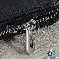 Ключниця кишенькова (шкіряна, чорна, з карабіном, кільцем), логотип Land Rover (Ленд Ровер), фото 3